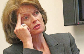 AP PHOTO / Mark Thiessen  U. S. Sen. Lisa Murkowski, R-Alaska is seen during an interview her office in downtown Anchorage, Alaska on Tuesday, April 19, 2011. Murkowski says she does not believe there is enough support in Congress to pass legislation that seeks to strip Alaska Native corporations of the advantage they enjoy in obtaining federal contracts worth billions.