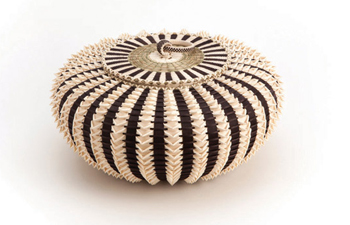 "HEARD MUSEUM  The ""Pointy Urchin"" basket created by Passamaquoddy basketmaker Jeremy Frey took three major awards, including the coveted Best of Show Award, at the 53rd Heard Museum Indian Fair & Market on Friday, March 4."
